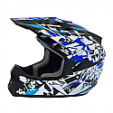 RSX13 Craze BLACK/BLUE Kids MX Helmet