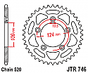 746-44 REAR SPROCKET CARBON STEEL