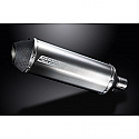 DELKEVIC EXHAUST SILENCER WITH REMOVABLE BAFFLE 343mm X-OVAL TITANIUM