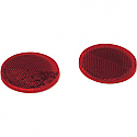 SADDLEMEN REFLECTOR LENS KIT ROUND - RED