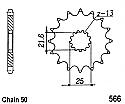 566-15 FRONT SPROCKET CARBON STEEL