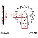 249-14 FRONT SPROCKET CARBON STEEL