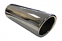 TAIL PIPE 2.5 inch In Rolled Slash Cut Polished Slash Lip Tailpipe 2.5inch Dia. Length aprox 6inch.