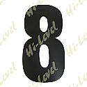 "COMPETITION NUMBER BLACK 7"" 8 MATT"