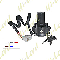 KAWASAKI ZZR600E, ZX6R F1-3, ZX9R 1994-2004 (5 WIRES) IGNITION SWITCH
