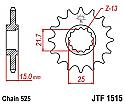 1515-15 FRONT SPROCKET CARBON STEEL