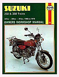 SUZUKI T250, SUZUKI GT250, SUZUKI T305, SUZUKI GT350 1968-1978 WORKSHOP MANUAL
