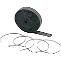 "ACCEL EXHAUST WRAP KIT BLACK 1""x50'"