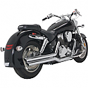 HONDA VTX1800R, HONDA VTX1800N 2002-2008 EXHAUST BIG SHOTS STAGGERED