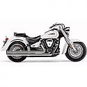 YAMAHA XV1700AT ROAD STAR SILVERADO, XV1700AS ROAD STAR S, XV1700AW ROAD STAR CAST WHEEL 2008-2014 EXHAUST SYSTEM HOT ROD SPEEDSTER LONG W/POWERPORT CHROME