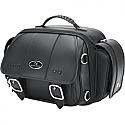 SADDLEMEN SISSY BAR BAG CD1700 REAR SYNTHETIC LEATHER BLACK