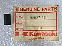 Kawasaki NOS NEW 92027-211 Meter Collar Z1 KZ KZ1000 KZ900 KZ750 KZ650