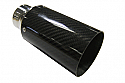 "TAIL PIPE JAP 3"" Carbon Tail 76mm (3 inch) Carbon Tail. 51mm (2 inch) inlet. 173mm length"