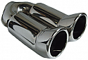 TAIL PIPE Twin Tailpipe Twin 3in DTM tails on Ywith rolled lip. Inlet min 2.0in. Length 11in