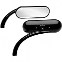 ARLEN NESS MIRROR OVAL MICRO BLACK LEFT
