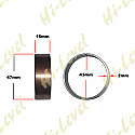 FORK BUSHINGS OD 47mm, ID 43mm, WIDTH 15mm, THICKNESS 2mm (PAIR)
