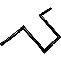 "LA CHOPPERS 1"" NARROW Z-BARS 10"" RISE BLACK UNIVERSAL"