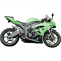 KAWASAKI ZX-6R 600 NINJA 2009-2012 JARDINE SLIP-ON EXHAUST GP-1, BLACK