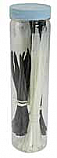 CABLE TIES 100pc MIX 180 & 120mm BLACK & WHITE