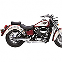 "HONDA VT750C SHADOW, VT750C SHADOW ACE, VT750C2 ACE SHADOW, VT750CD SHADOW ACE DELUXE 1997-2003 EXHAUST SYSTEM 2"" DRAG PIPE SLASH CUT CHROME"