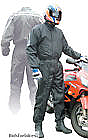 1 PIECE AQUA SHELL STORM PROOF MOTORCYCLE RAINSUIT - MEDIUM