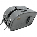 ALL AMERICAN RIDER SADDLEBAG FUTURA 2000 TRIPLE EXTRA LARGE PLAIN BLACK