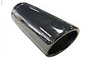 TAIL PIPE 3 inch In Rolled Slash Cut Black Chromed 76mm (3 inch) In Rolled Slash Cut. 190mm Length