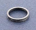 EXHAUST PORT GASKET ALLOY NON-ASBESTOS FIBRE 46MM O/D