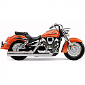 HONDA VTX1300C, HONDA VTX1300S, HONDA VTX1300R, HONDA VTX1300T 2003-2009 EXHAUST SYSTEM HOT ROD SPEEDSTER LONG 2 INTO 2 STRAIGHT-CUT TRIPLE-CHROME