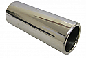 TAIL PIPE 2.5 inch In Rolled Polished Rolled Lip tailpipe. Length aprox 8 inches.