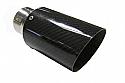 "TAIL PIPE JAP 3"" Carbon Tail 76mm (3 inch) Slash Cut Carbon Fibre Tail. 51mm inlet. 175mm length"