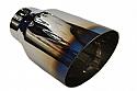 TAIL PIPE JAP STYLE Titanium 102mm Diameter SLASH CUT BURNT END