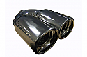 "TAIL PIPE Twin 3.5"" x 3"" tail Twin 3.5"" x 3"" Tail. 180mm wide, 235mm long, 57mm inlet"