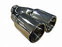 "TAIL PIPE Twin 3"" Rolled in Tail Twin 3"" Rolled in. 155mm total width, 230mm long, 58mm inlet"