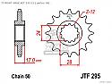 295-15 FRONT SPROCKET CARBON STEEL