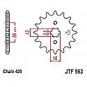 563-13 FRONT SPROCKET CARBON STEEL