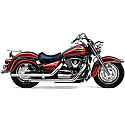 SUZUKI VL1500 INTRUDER, SUZUKI VL1500 LC INTRUDER LEGEND CLASSIC 1998-2004 EXHAUST SYSTEM DRAGSTER 2 INTO 2 STRAIGHT-CUT CHROME
