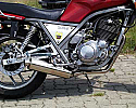 YAMAHA SRX600 (TWIN SHOCK MODEL) SYSTEM ROAD IN BRUSHED STAINLESS R/BAFFLE