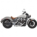 "INDIAN SCOUT 69 ABS, INDIAN SCOUT 60 ABS SIXTY 2015-2017 BLACK 3"" SLIP ON MUFFLER W/BLACK SLASH CUT END CAP"