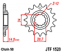 1529-17 FRONT SPROCKET CARBON STEEL