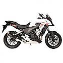 HONDA CB500F, HONDA CB500F ABS, HONDA CBR500R, HONDA CBR500R ABS, HONDA CB500X, HONDA CB500X ABS 2013-2016 FORCE SLIP-ON MUFFLER DARK STYLE (S/S)
