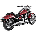 YAMAHA XV1900C RAIDER, XV1900C RAIDER FLAME, XV1900C RAIDER BULLET COWL, XV1900CS RAIDER S 2008-2015 EXHAUST BIG RADIUS 2-INTO-1 CHROME