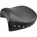 HARLEY DAVIDSON FLT/C, FLHT, FLHR SOLO PILLION PAD RENEGADE™ REAR SADDLEHYDE™|SADDLEGEL™ STUDDED BLACK|NATURAL W/ STUDS