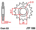 1586-16 FRONT SPROCKET CARBON STEEL