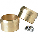 LOWBROW CUSTOMS CUSTOM REPLACEMENT EXHAUST TIP / NATURAL MACHINED / BRASS
