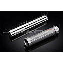 DELKEVIC EXHAUST SILENCER WITH REMOVABLE BAFFLE CLASSIC STRAIGHT 62mm ENTRY