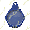 TAX, SERVICE, MOT REMINDER HEXAGON PLASTIC FOLDOVER - BLUE