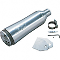 "SUPERTRAPP MUFFLER UNIVERSAL SLIP ON ALUMINUM RACING SERIES (2.50"" [63,5mm]) ALUMINUM"