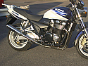 SUZUKI GSX1400 4-2 SYSTEM ROAD IN BRUSHED STAINLESS STEEL