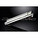 DELKEVIC EXHAUST SILENCER WITH REMOVABLE BAFFLE 350mm ROUND STAINLESS STEEL